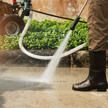 Preparations When Using a Power Washer